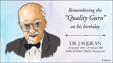 Dr J M Juran; Architect of Quality