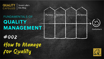 HOW TO MANAGE FOR QUALITY?