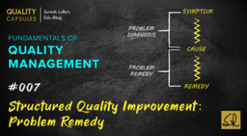 STRUCTURED QUALITY IMPROVEMENT: PROBLEM REMEDY